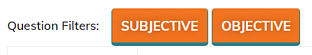 Subjective and objective filter buttons